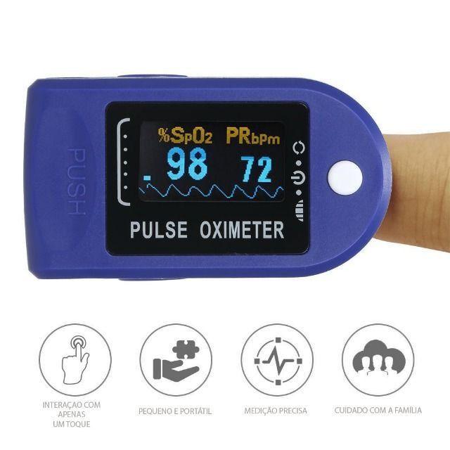 Medidor De Dedo Frequência Cardíaca e Oxigênio Display Led - Foto 2
