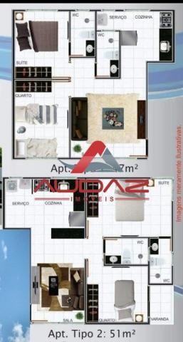 Apartamento à venda com 2 dormitórios em Castelo branco, João pessoa cod:1457 - Foto 2
