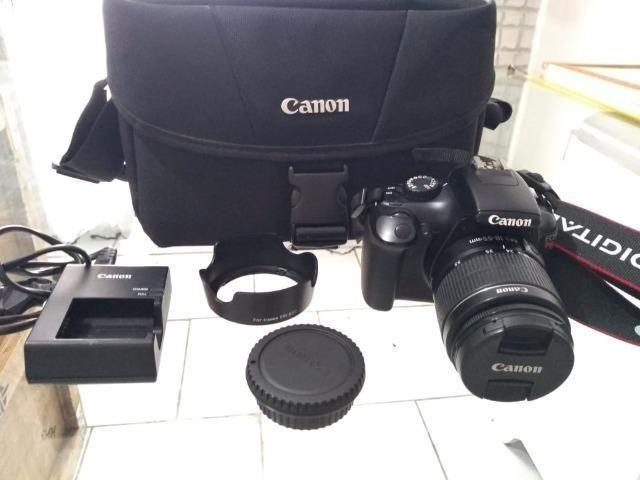 R$ 880 Câmera Semi Profissional Canon T3 (em Perfeito estado ) Entrego - Foto 3