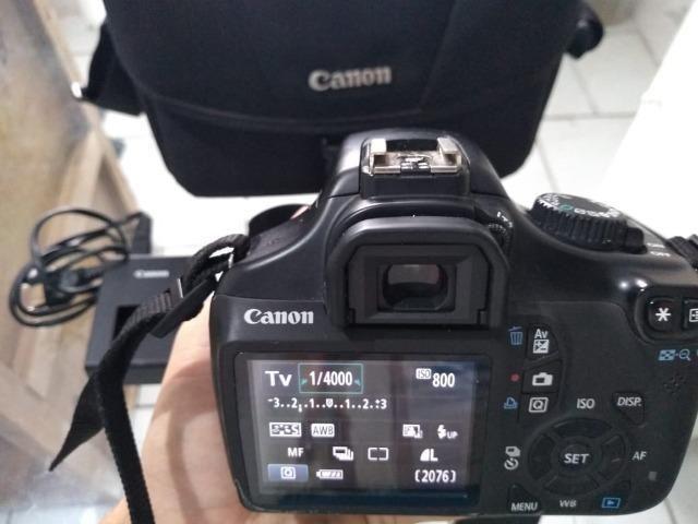 R$ 880 Câmera Semi Profissional Canon T3 (em Perfeito estado ) Entrego - Foto 2