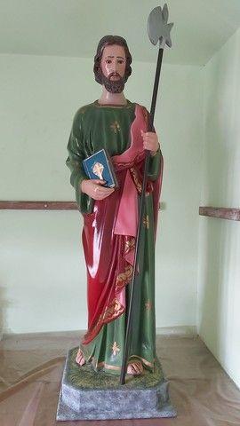 Estátua de São Judas Tadeu de 90cm feito a mão - Foto 2