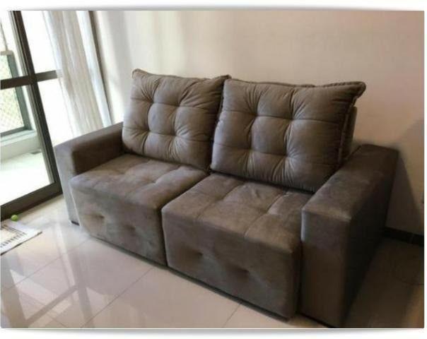 Retrátil e reclinável modelo Débora com assentos de mola // pronta entrega - Foto 3