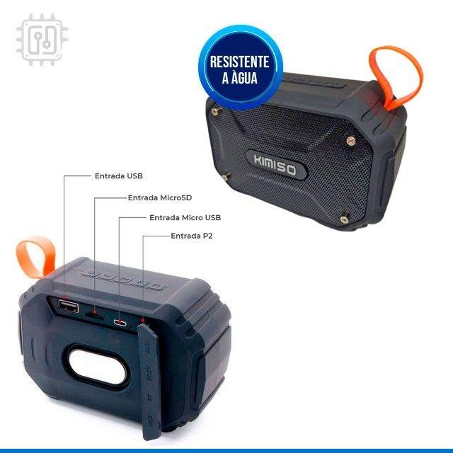 Caixa De Som Bluetooth Portátil Rádio Resistente À Água Som Potente - Foto 3
