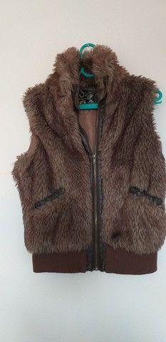 Colete/casaco de pêlo com zíper - Foto 5