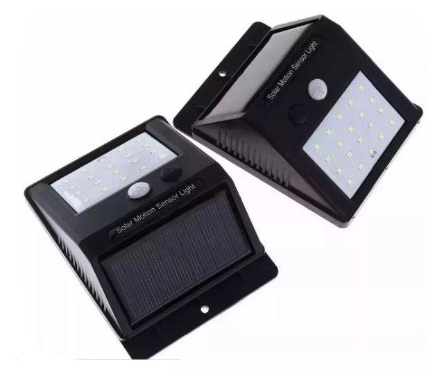 Luminária Autônoma (Sensor de presença, carregamento energia solar) Arandela - Foto 4
