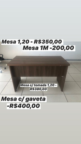 MESA C/ TOMADA MEGA OFERTA