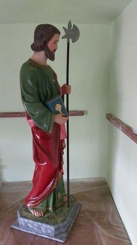 Estátua de São Judas Tadeu de 90cm feito a mão - Foto 3