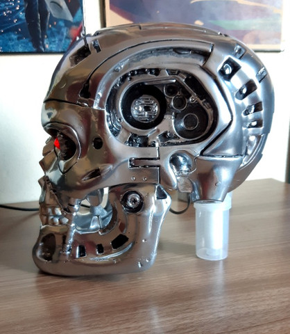O Exterminador Do Futuro Crânio T800 Tamanho Real Escala 1/1 - Foto 3