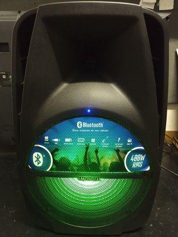 Caixa Amplificada 400w Mondial com Bluetooth, USB e Rádio FM  - Foto 3