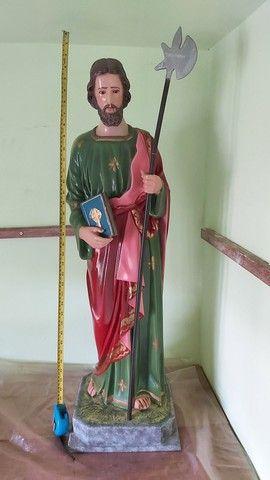 Estátua de São Judas Tadeu de 90cm feito a mão