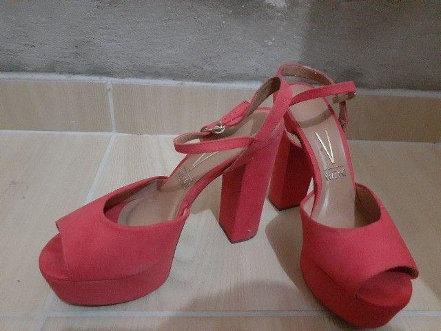 Sandália de salto rosa seco tam 36  - Foto 3