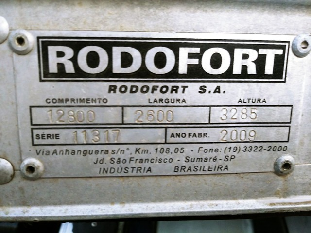 Carreta Baú Rodofort 2 Eixos 12,80x2,60x3,285 Sem Pneus Ano 2009 - Foto 15