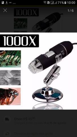 Microscópio Digital Usb 1000x Zoom Camera 2.0mp Profissional