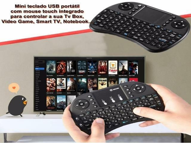 Mini Teclado e Touch Pad Wireless para TV Smart TV Box PC Notebook Celular