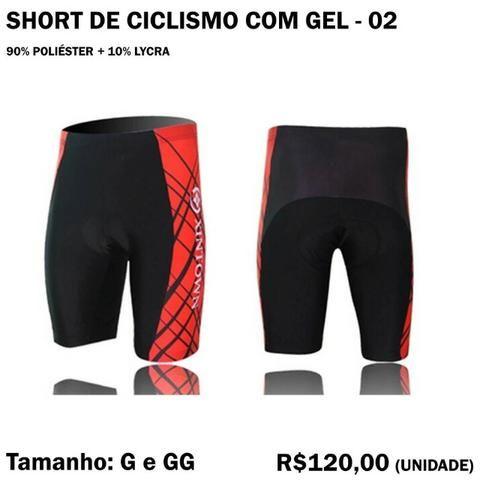Short de Ciclismo com Gel - Modelo 02