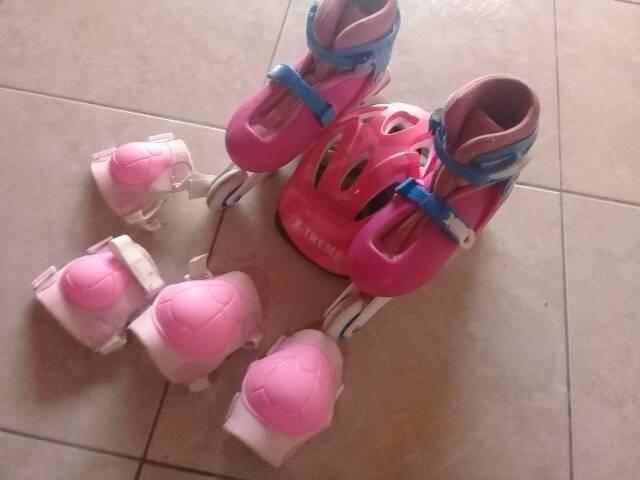 Patins com kit de proteção. R$170,00 - Foto 2