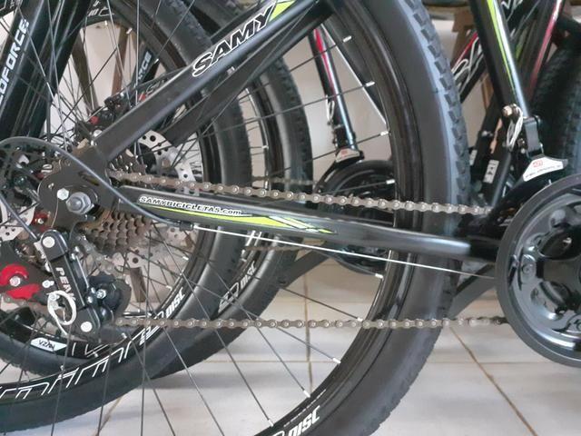 """Bicicleta 29"""" tem 19"""" susp+disco - Foto 6"""