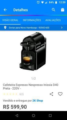 Cafeteira Nespresso com cápsulas aceito cartão até 12x juros por conta do comprador - Foto 5