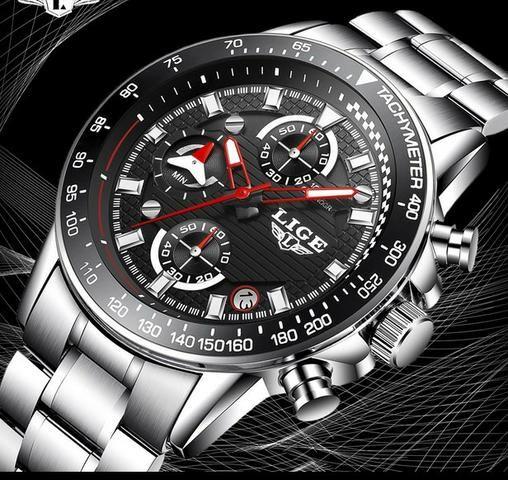 Última peça_Relógio cronógrafo de luxo_100% funcional_importado_novo_!! - Foto 3