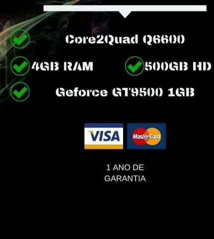 PC Gamer Core2Quad Q6600 - Troco e Passo Cartão - Foto 3