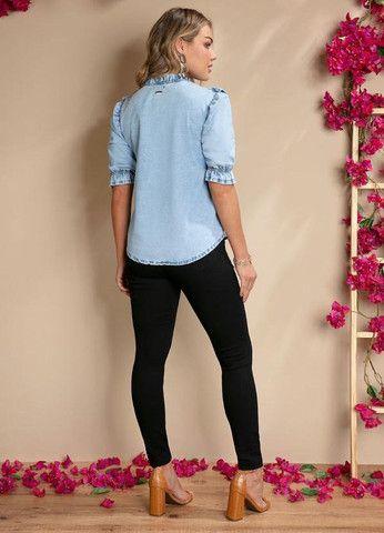 Calça jeans preta empina bumbum - Foto 4