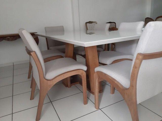 Imperdivel-Mesa com tampo de vidro laqueado + 6 cadeiras modelo Sabrina   - Foto 5