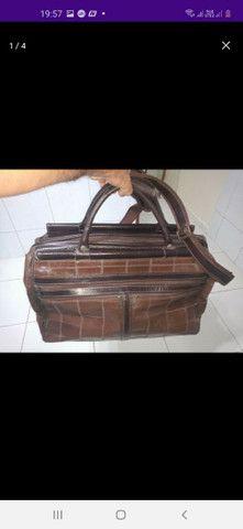 Bolsa de viagem 100% couro legítimo  - Foto 2