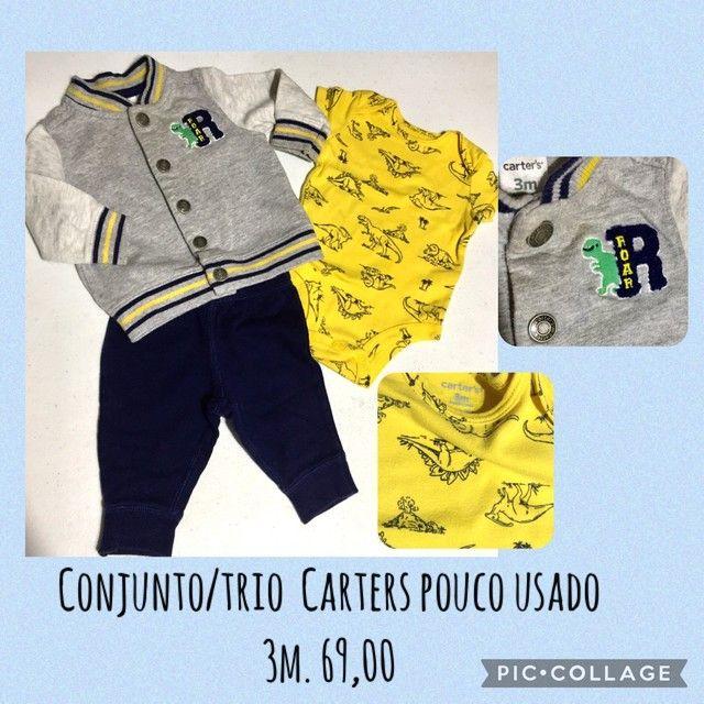 Roupas Carters bebê 3m