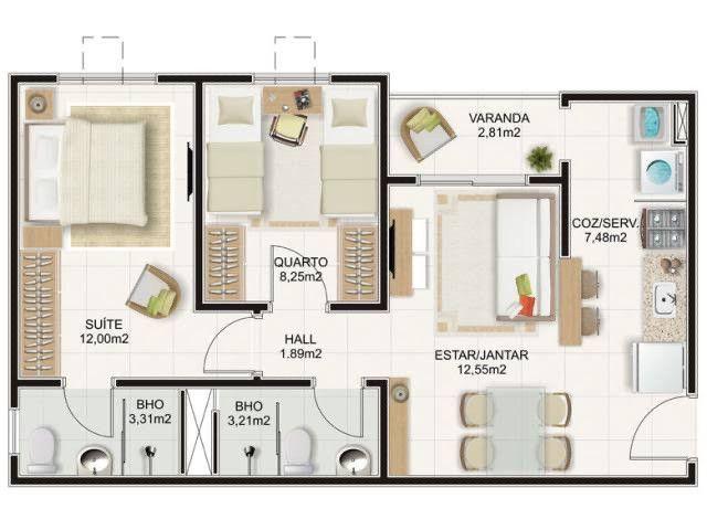 Apartamento 2/4 no Condomínio Alegro Montenegro (venda) - Foto 3