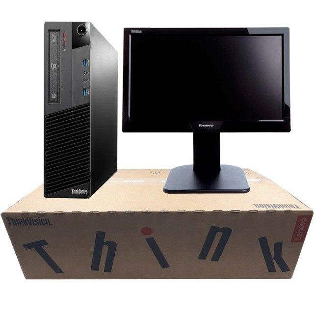 Kit Computador Monitor Teclado Lenovo I3 4160 480SSD Wifi