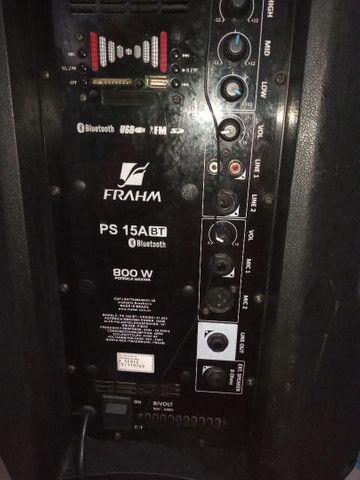 Vendo caixa de som FRAHM 800w de potência - Foto 3