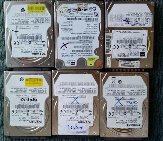 Lote 10 Hds Hitachi, Toshiba E Wd Defeito Várias Capacidade