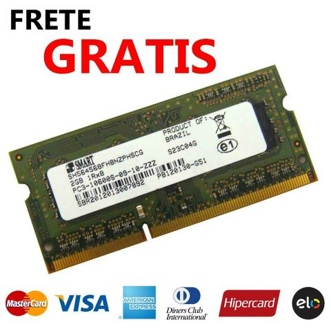 Memoria 2gb 1333mhz Pc3-10600 Ddr3 Sdram Notebook