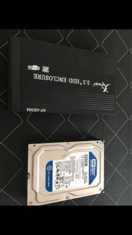 Case de HD 3.0 + HD de PC 320 GB