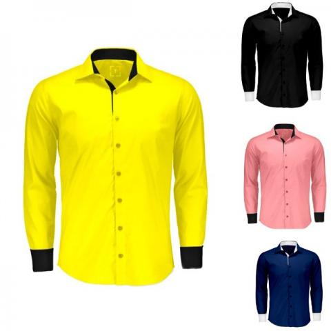 ea1ecad3c3 Camisa social masculina manga longa - varias cores p ao gg promoção  aproveitem