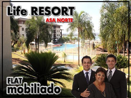Apartamento 1 quarto, SETOR SHTN, Asa Norte, Life Resort, Bl.N, 28M2, Camarote!