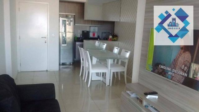 Apartamento com 3 dormitórios à venda, 72 m² por R$ 460.000,00 - Guararapes - Fortaleza/CE - Foto 9