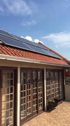 Gerador de energia solar completo
