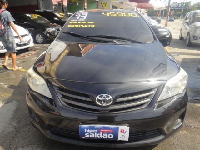 Toyota Corolla Financio ate sem entrada+gnv d quint ger+ completo troca moto ou carro - Foto 4
