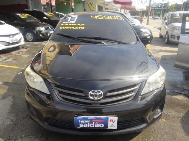 Toyota Corolla Financio ate sem entrada+gnv d quint ger+ completo troca moto ou carro - Foto 5
