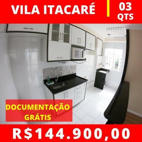 JG. Apartamento de 3 quartos no Vila Itacaré com escritura grátis!