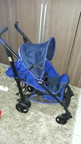 Vendo carrinho de bebê Chico liteway novinho - Foto 3