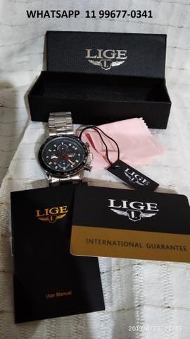 Última peça_Relógio cronógrafo de luxo_100% funcional_importado_novo_!! - Foto 5