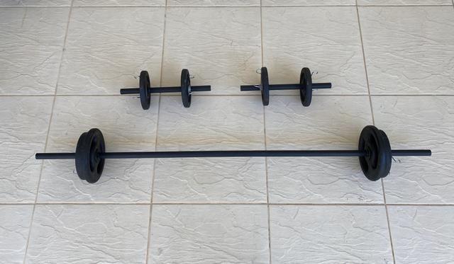Barra / Halter / Anilha / Presilhas - Musculação / academia / Treino quarentena - Foto 3