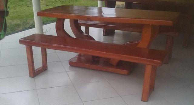 Mesa de jaqueira com bancos - Foto 2