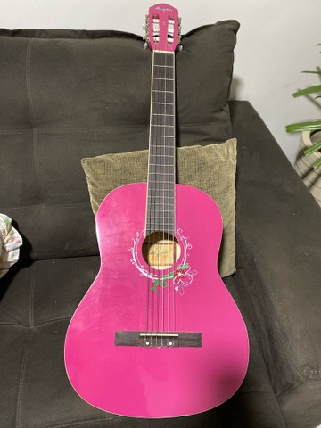 Violão feminino rosa Menphis