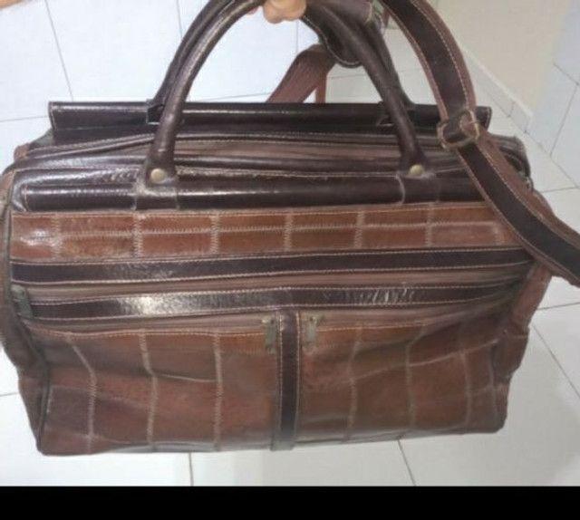 Bolsa de viagem 100% couro legítimo