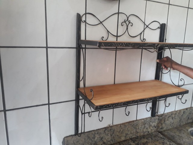Organizador para cozinha de ferro forjado