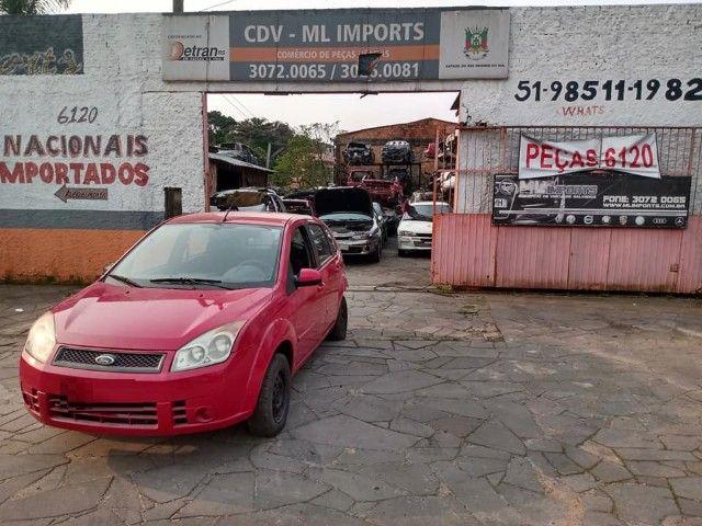 Sucata Peças Ford Fiesta zetec rocam completo compressor caixa - Foto 5