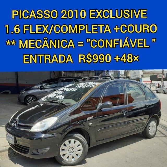 Citroen Xsara Picasso Exclusive 2010 1.6 flex completa couro ar condicionado - Foto 4